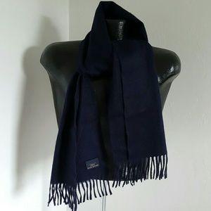 Brooks brothers men cashmere blue scarf
